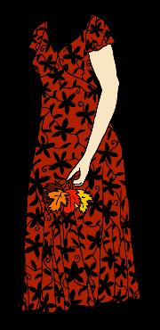 short dress with dark floral pattern