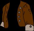 brown and silver bolero jacket