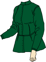 green jacket with short skirts