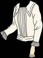 loose pleated blouse
