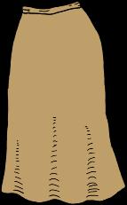 mid-calf brown skirt