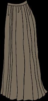 ankle-length pleated skirt