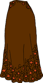 maple-leaf-pattern skirt