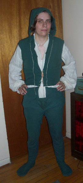 Me in green Tudor men's garb